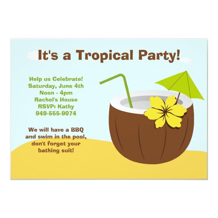 Luau Party Invitation