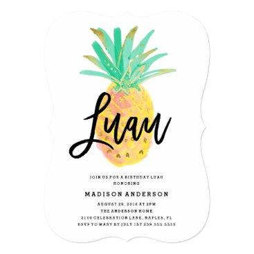 Beach Themed Luau Party Invitation