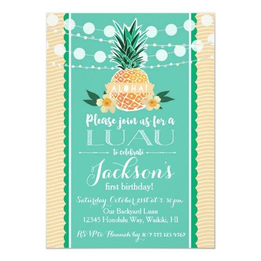 Luau Party Invitation for Birthday, Shower, etc