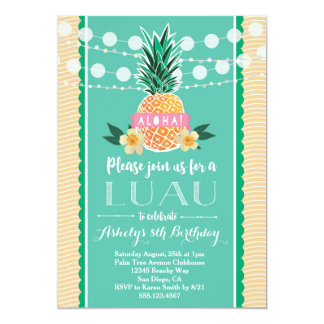 Luau Party Invitation for Birthday, Shower, etc<a