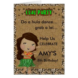 Luau Party Invitation Greeting Card