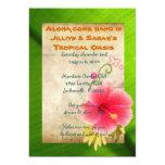 "Luau Party Invitations 5"" X 7"" Invitation Card"