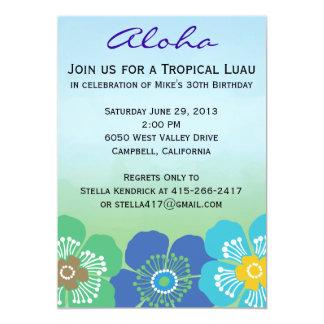 Luau Party Invitations - Calypso