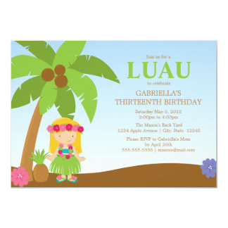 Luau | Party Invite