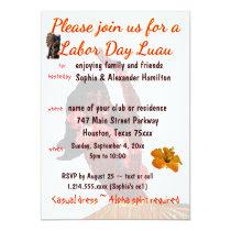 Luau Party Labor Day Barbeque Invitation