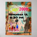 Luau Party Posters vintage hawaiian beach