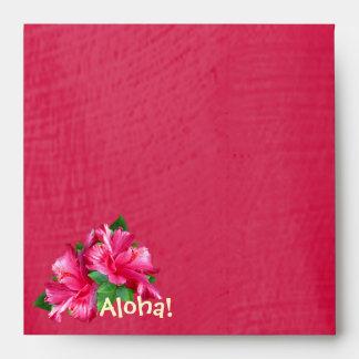 Luau Pink Hibiscus Envelope