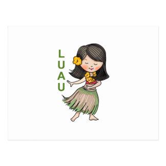 Luau Postcard
