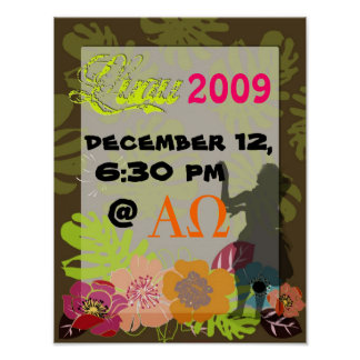 Luau Posters Decoration or Party