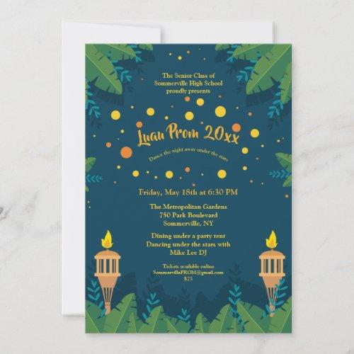 Luau Prom Invitations