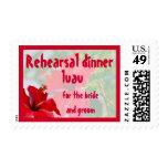 Luau Theme Rehearsal Dinner Postage Stamps