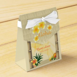 Luau Tiki Hut Party Favor Box