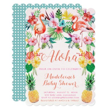 Toddler & Baby themed Luau Tropical Baby Shower Invitation
