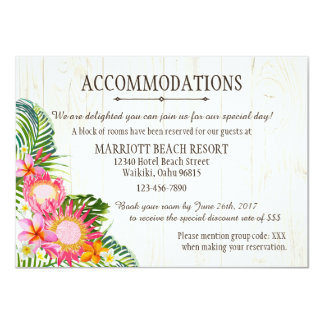 Luau Tropical Beach Resort Accommodations Card