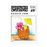 Luau tropical - franqueo de las invitaciones
