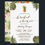 """Luau Tropical Leaves Pineapple Bridal Shower Card<br><div class=""""desc"""">Celebrate the perfect Luau Bridal Shower Invite with this &quot;Tropical Leaves Pineapple Beach Themed invitation&quot; template. With our easy-to-use design tool, you can easily customize it to be uniquely yours. (1) For further customization, please click the &quot;Customize&quot; button and use our design tool to modify this template. (2) If you...</div>"""