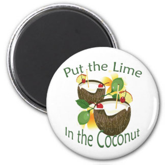 Luau Tropical Party Funny Coconut Drink Magnet