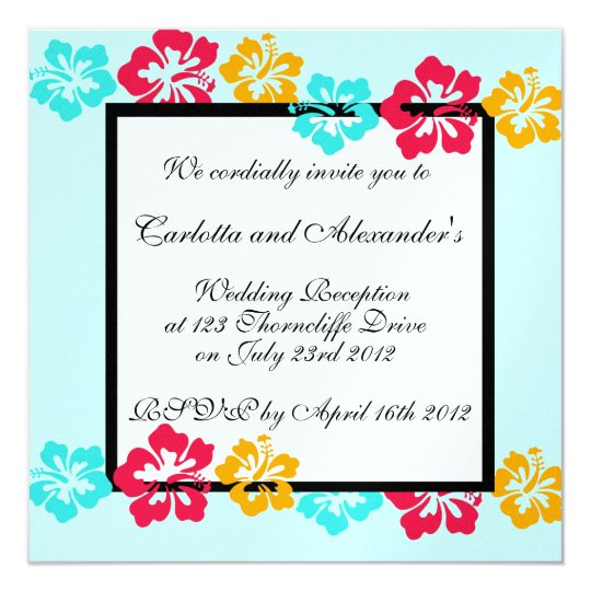 Luau Wedding Invitation