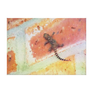 Lubbock Lizard Painting Stretched Canvas Prints