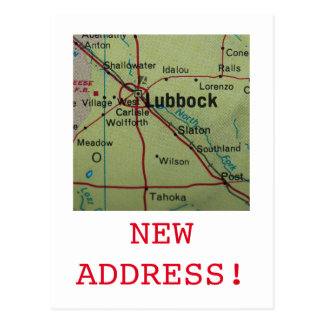 Lubbock New Address announcement Postcard