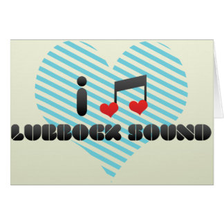 Lubbock Sound Greeting Card