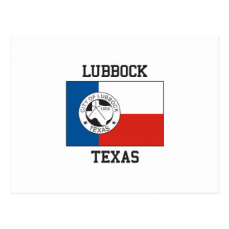Lubbock Texas Flag Postcard