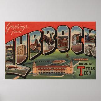 Lubbock, TexasTech - escenas grandes de la letra Póster