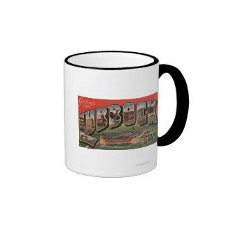 Lubbock, TexasTech - Large Letter Scenes Coffee Mug