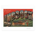 Lubbock, TexasTech - Large Letter Scenes Postcard