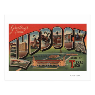 Lubbock, TexasTech - Large Letter Scenes Postcard