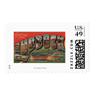 Lubbock, TexasTech - Large Letter Scenes Stamps