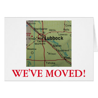 Lubbock  We've Moved address announcement
