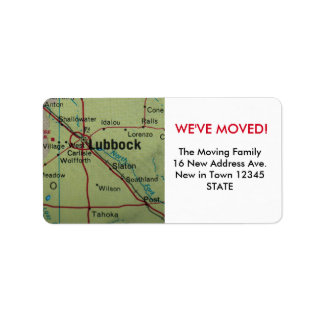 Lubbock We've Moved label