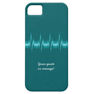 Lubdub Teal Customisable Phone Case. iPhone SE/5/5s Case