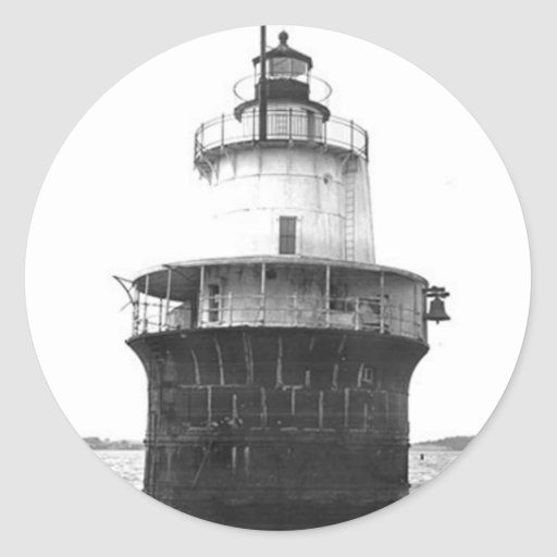 Lubec Channel Lighthouse Round Stickers