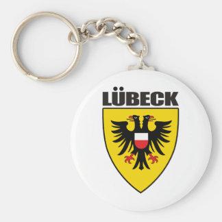 Lubeck Basic Round Button Keychain