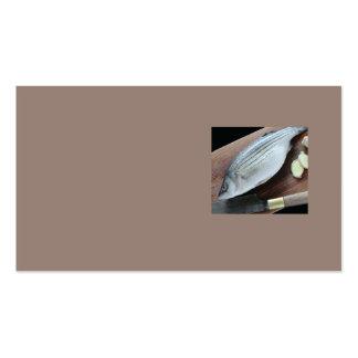 lubina rayada con el jengibre tarjetas de visita