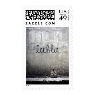 Lublu = amor en ruso sello