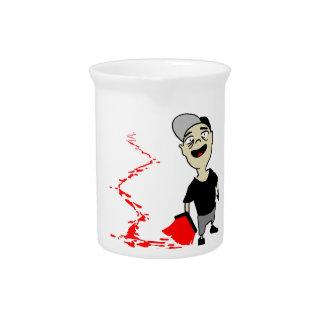 Lubrication finch drink pitchers