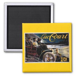 Luc Court - Vintage Automobile Advertisement 2 Inch Square Magnet