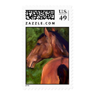 Luca at Equine Outreach greeting card Postage Stamp