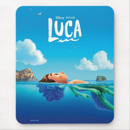 Luca   Human & Sea Monster Luca Theatrical Poster Mouse Pad