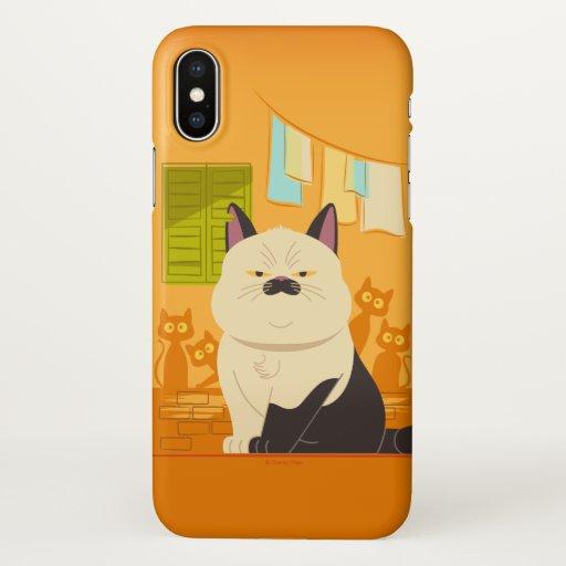 Luca | Machiavelli Cat Illustration iPhone X Case