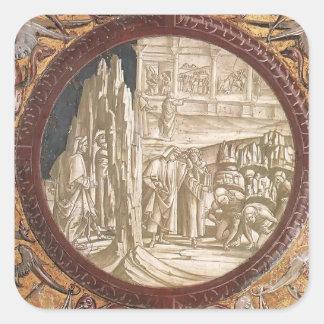 Luca Signorelli: Dante & Virgil Entering Purgatory Square Sticker