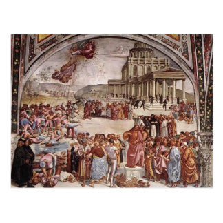 Luca Signorelli: Los hechos del Antichrist Tarjetas Postales