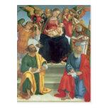 Luca Signorelli- Madonna, niño, santos y ángeles Tarjetas Postales