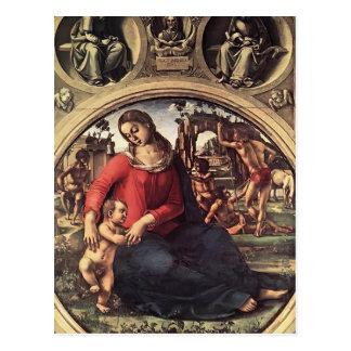 Luca Signorelli- Madonna y niño con los profetas Tarjetas Postales