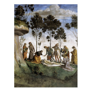 Luca Signorelli: Moses's Testament and Death Postcard