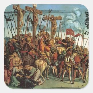 Luca Signorelli- The Crucifixion Square Sticker