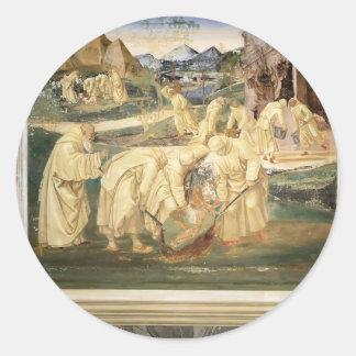 Luca Signorelli: Vida de St. Benedicto Etiqueta Redonda